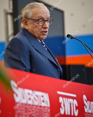 3 World Trade Opening. Silverstein Properties Chairman Larry Silverstein address a ribbon-cutting ceremony, officially opening 3 World Trade Center, in New York