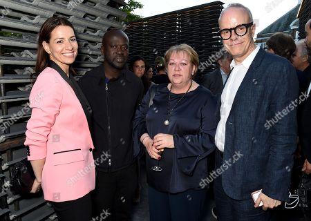 Yana Peel, David Adjaye, Julie Burnell and Hans-Ulrich Obrist