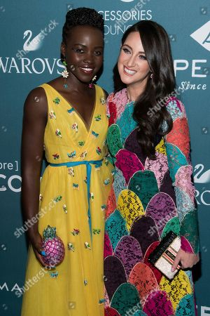 Lupita Nyong'o, Micaela Erlanger. Lupita Nyong'o, left, and Micaela Erlanger attend the 22nd annual ACE Awards at Cipriani 42nd Street, in New York