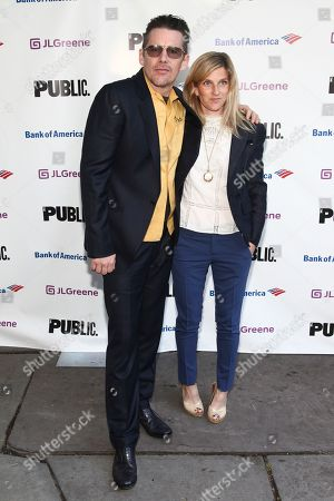 Ethan Hawke, Ryan Shawhughes. Ethan Hawke, left, and Ryan Shawhughes, right, attend the Public Theater's annual gala at the Delacorte Theater in Central Park, in New York