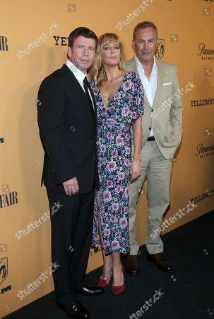 Taylor Sheridan, Kelly Reilly, Kevin Costner