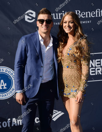 Stock Picture of Enrique Hernandez, aka Kike Hernandez and Mariana Paola Vicente