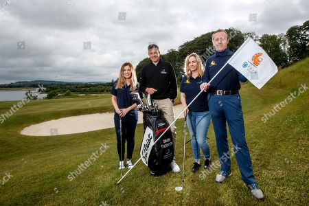'Prem Group Over the Moon to Support Children's Charity'. Clara Miller, PREM Group, Simon Thornton, Tournament Professional at Tulfarris Golf Club, Aine Clarke, PREM Group and Jim Murphy, CEO PREM Group pictured at the 13th annual PREM Group Charity Golf Classic in aid of children's charity, 'Beyond the Moon' which helps to send very sick children and their families on much needed holidays.