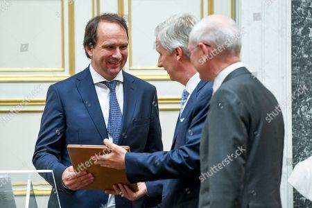 Stock Photo of King Philippe / Professor Frank Verstraete of the University of Ghent / Herman Van Rompuy