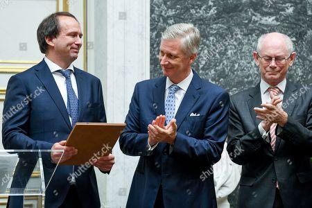 King Philippe / Professor Frank Verstraete of the University of Ghent / Herman Van Rompuy