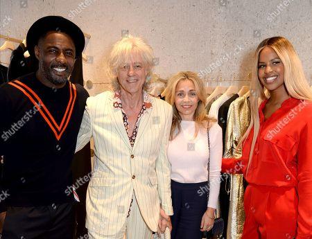 Idris Elba, Bob Geldof, Jeanne Marine and Sabrina Dhowre
