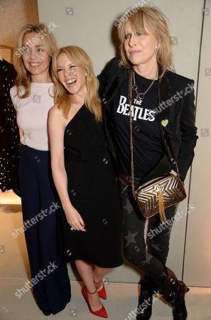Jeanne Marine, Kylie Minogue and Chrissie Hynde