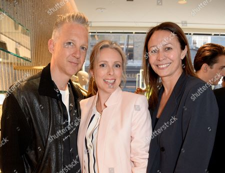 Jefferson Hack, Stephanie Phair and Caroline Rush