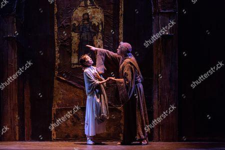 Stock Photo of Nao Sakuma (Juliet), Jonathan Payne (Friar Laurence)