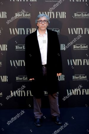 Stock Picture of Spanish filmmaker David Trueba poses upon arrival to the 3rd Vanity Fair international journalism award ceremony in Madrid, Spain, 12 June 2018.