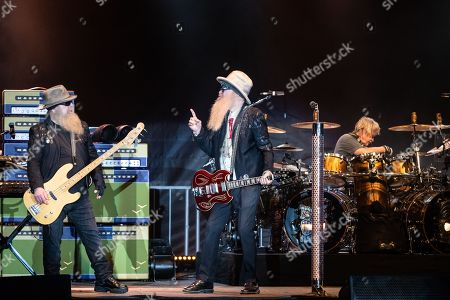 Dusty Hill, Billy Gibbons, and Frank Beard of ZZ Top