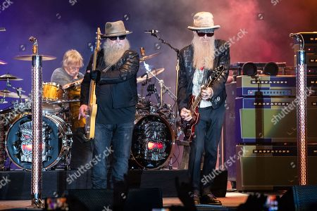 Frank Beard,, Dusty Hill and Billy Gibbons of ZZ Top