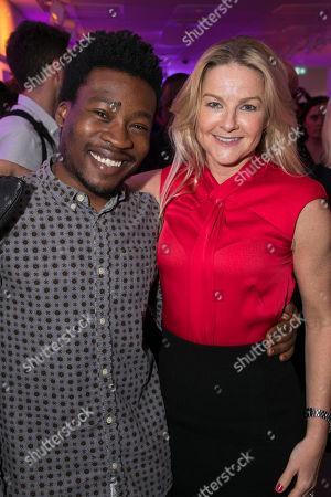 Fisayo Akinade and Sarah Hadland