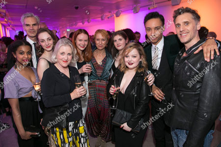 Stock Picture of Grace Saif (Monica), Angus Wright (Gordon Lowther), Helena Wilson (Jenny), Sylvestra Le Touzel (Miss Mackay), Rona Morison (Sandy), Lia Williams (Jean Brodie), Emma Hindle (Mary), Nicola Coughlan (Joyce-Emily), Kit Young (The Journalist) and Edward MacLiam (Teddy Lloyd)