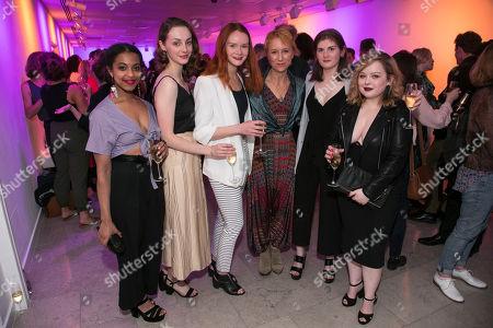 Grace Saif (Monica), Helena Wilson (Jenny), Rona Morison (Sandy), Lia Williams (Jean Brodie), Emma Hindle (Mary) and Nicola Coughlan (Joyce-Emily)
