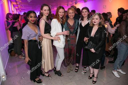 Stock Photo of Grace Saif (Monica), Helena Wilson (Jenny), Rona Morison (Sandy), Lia Williams (Jean Brodie), Emma Hindle (Mary) and Nicola Coughlan (Joyce-Emily)