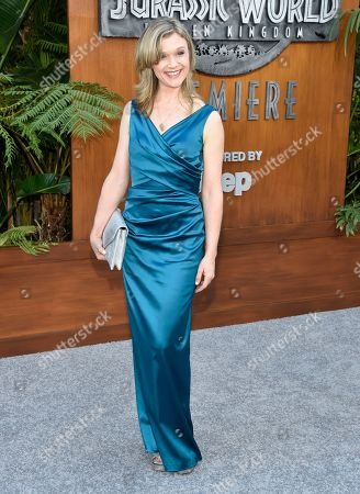 "Stock Picture of Ariana Richards arrives at the Los Angeles premiere of ""Jurassic World: Fallen Kingdom"" at the Walt Disney Concert Hall on"