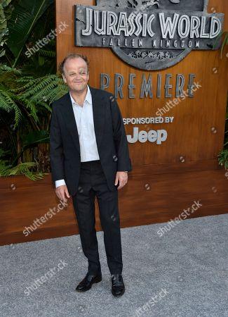"Toby Jones arrives at the Los Angeles premiere of ""Jurassic World: Fallen Kingdom"" at the Walt Disney Concert Hall on"