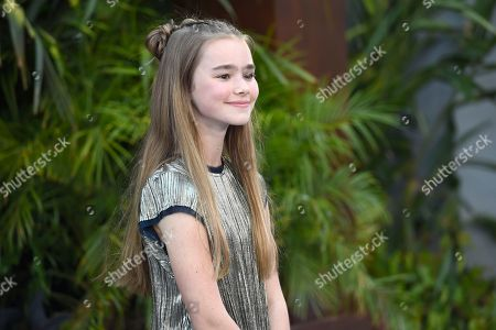 """Isabella Sermon arrives at the Los Angeles premiere of """"Jurassic World: Fallen Kingdom"""" at the Walt Disney Concert Hall on"""