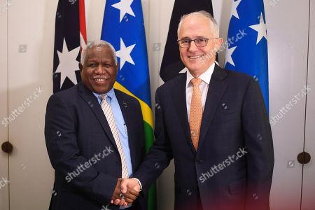 Rick Houenipwela and Malcolm Turnbull