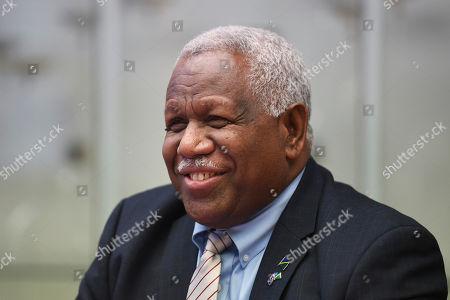 Editorial image of Prime Minister of the Solomon Islands Rick Houenipwela, Canberra, Australia - 13 Jun 2018