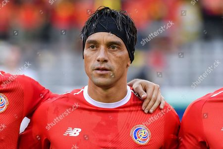 Costa Rica's Christian Bolanos during a friendly soccer match between Belgium and Costa Rica at the King Baudouin stadium in Brussels