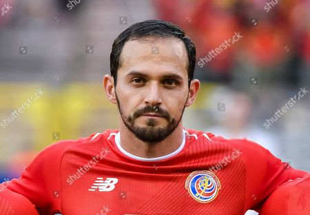 Costa Rica's Marco Urena during a friendly soccer match between Belgium and Costa Rica at the King Baudouin stadium in Brussels