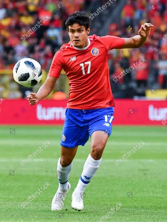Costa Rica's Yeltsin Tejeda during a friendly soccer match between Belgium and Costa Rica at the King Baudouin stadium in Brussels