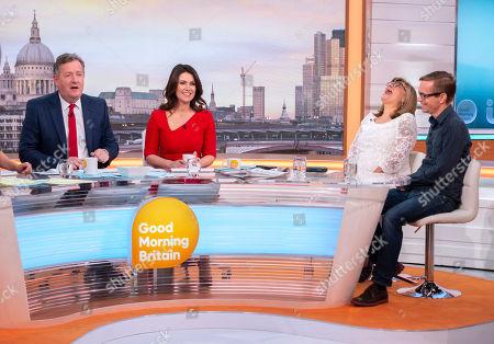 Piers Morgan, Susanna Reid, Lorrine Marer and Andy Robertson