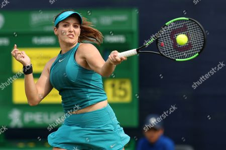 Laura Robson of Great Britain in action
