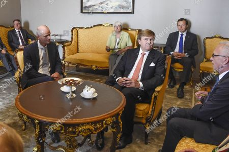 Stock Picture of King Willem-Alexander with Eiki Nestor