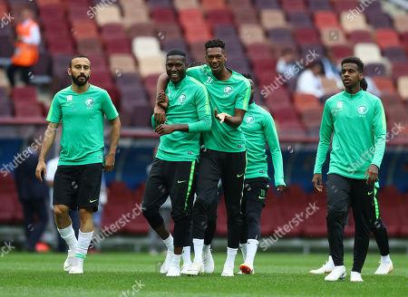 Editorial picture of Saudi Arabia training, Group A, 2018 FIFA World Cup football, Luzhniki Stadium, Moscow, Russia - 13 Jun 2018