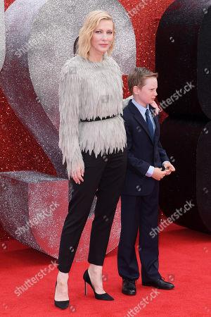 Stock Picture of Cate Blanchett and son Ignatius Martin Upton