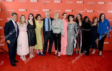 Gary Ross, Cate Blanchett, Sarah Paulson, Helena Bonham Carter, Sandra Bullock and Mindy Kaling