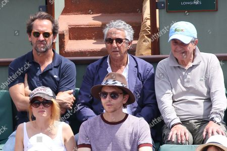 Stephane De Groodt, Richard Anconina, Claude Lelouch ; Melanie Thierry and Raphael (Raphael Haroche)