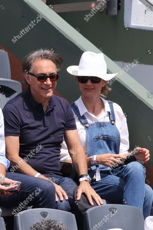 Stock Picture of Richard Berry and his wife Pascale Louange