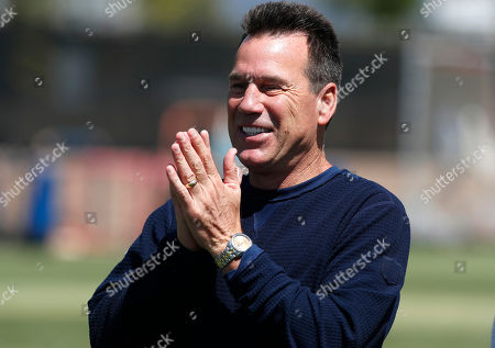 Denver Broncos senior personnel advisor Gary Kubiak looks on during drills at the NFL football team's training camp, in Englewood, Colo
