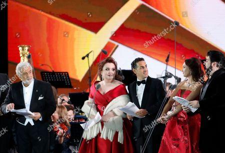 Placido Domingo, Albina Shagimuratova, Juan Diego Florez, Aida Garifullina and Yusif Eyvazov