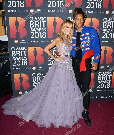 Amanda Holden, Tokio Myers, winner PPL Classic Brits Breakthrough Artist of the Year