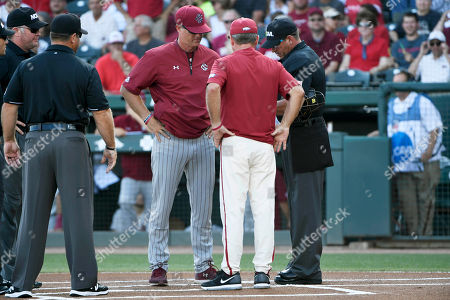 Editorial picture of NCAA South Carolina Arkansas Baseball, Fayetteville, USA - 11 Jun 2018