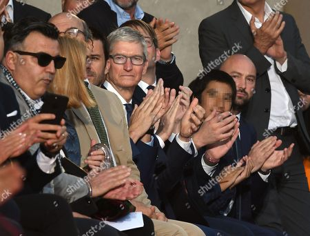 Chief Executive Officer of Apple, Tim Cook during fashion show Roberto Cavalli presenting the first men's collection designed by Paul Surridge, during 94th 'Pitti Immagine Uomo' in Florence, Italy, 13 June 2018.