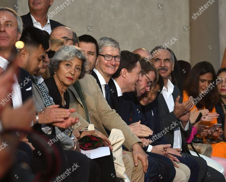 Stock Picture of Chief Executive Officer of Apple, Tim Cook during fashion show Roberto Cavalli presenting the first men's collection designed by Paul Surridge, during 94th 'Pitti Immagine Uomo' in Florence, Italy, 13 June 2018.