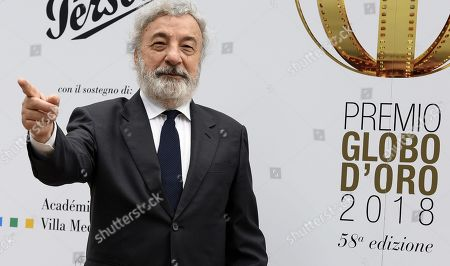 Italian film director Gianni Amelio poses on the red carpet during the 'Globo d'Oro' (Golden Globe) film awards ceremony at the Villa Medici in Rome, Italy, 13 June 2018. The Globo d'oro is an Italian film award given annually by the journalists of the foreign press accredited in Italy.