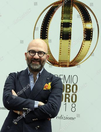 Italian screenwriter Donato Carrisi poses on the red carpet during the 'Globo d'Oro' (Golden Globe) film awards ceremony at the Villa Medici in Rome, Italy, 13 June 2018. The Globo d'oro is an Italian film award given annually by the journalists of the foreign press accredited in Italy.