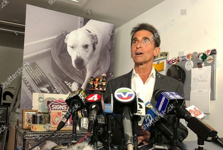 """Former state Sen. Mark Leno talks with reporters while conceding the race for San Francisco mayor, in San Francisco. Leno said that he called chief rival London Breed with his congratulations in her new job as mayor. He said Breed was a """"remarkable young woman"""" who will do a fine job as mayor"""