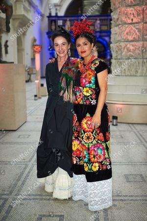 Marta Ortiz and Salma Hayek
