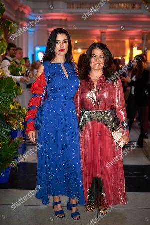 Daniella Helayel (R) and guest