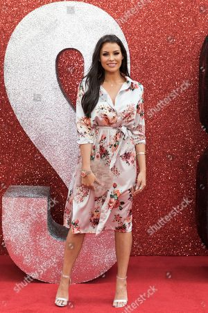 Jess Wright poses for photographers upon arrival at the premiere of the film 'Ocean's 8' in central London