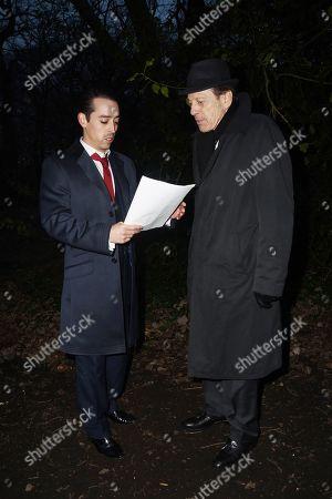 Editorial photo of 'The Krays: Dead Man Walking' on set filming, Highgate Woods, London, UK - 05 Feb 2018