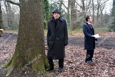 Editorial image of 'The Krays: Dead Man Walking' on set filming, Highgate Woods, London, UK - 05 Feb 2018